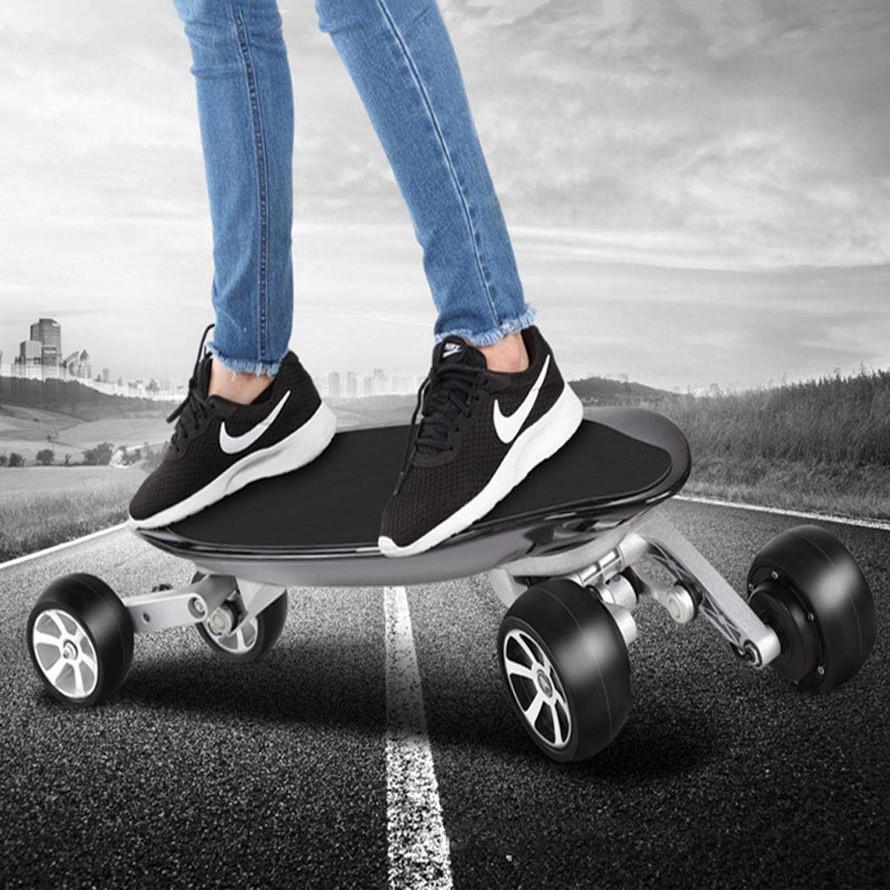 Wu's Skateboard Électrique Aux Quatre Roues Longboard Intégré