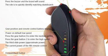 Test TIKENBST Skateboard électrique Tout-Terrain Intelligent Télécommande sans Fil