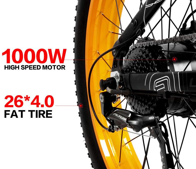 LANKELEISI 750PLUS 48V14.5AH 1000W MoteurTout-Puissant Vélo Électrique