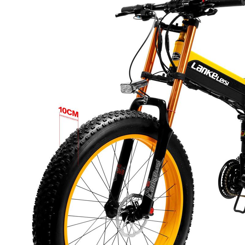 Test LANKELEISI 750PLUS 48V14.5AH 1000W MoteurTout-Puissant Vélo Électrique