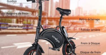Avis et Comparatif BEBK Vélo Électrique de Ville Pliant
