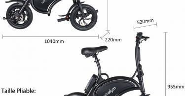 Taille BEBK Vélo Électrique de Ville Pliant