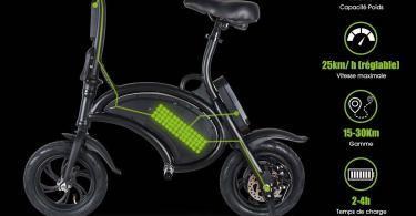 Test BEBK Vélo Électrique de Ville Pliant