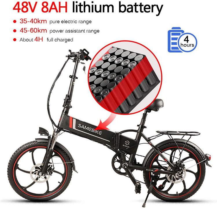 Test vélo Lixada Vélo électrique Pliant de 20 Pouces