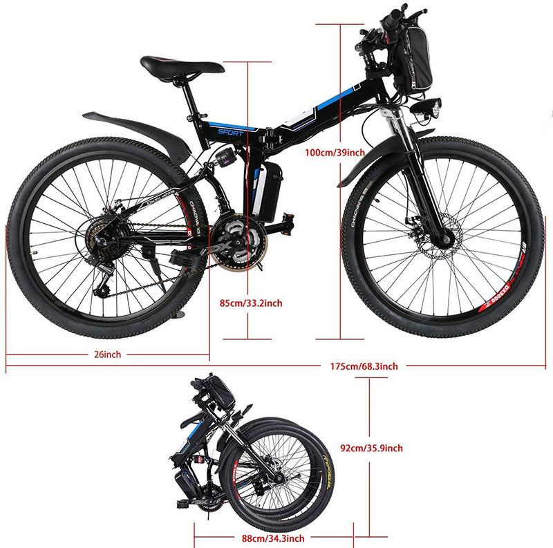 Test Avis Oppikle Vélo Electrique 26 Pouces E-Bike - VTT Pliant