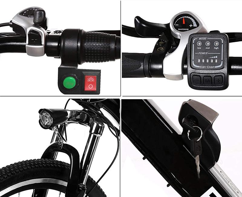 Velo electrique pas cher Bunao Vélo électrique pour vélo de Montagne électrique