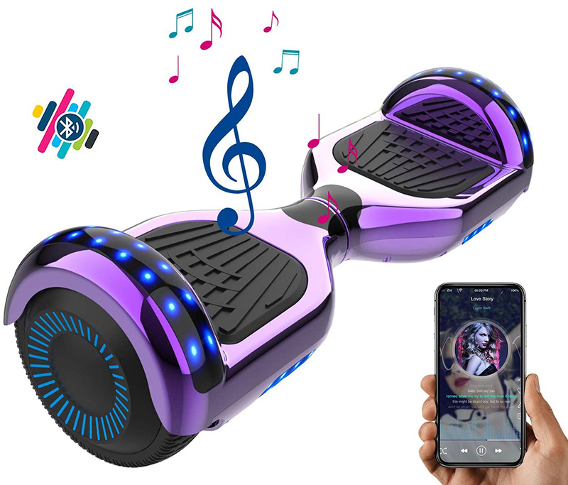 NEOMOTION Hoverboard 6.5 Pouces Overboard avec Bluetooth LED