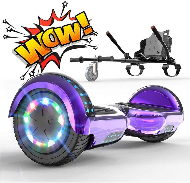 RCB Hoverboard avec Hoverkart pour Enfant et Adulte