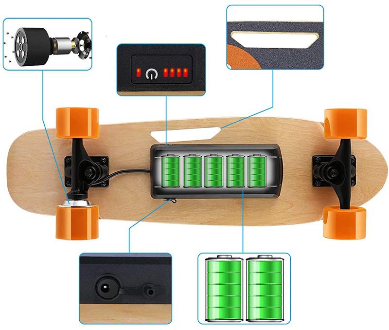 Test Caroma Skateboard électrique