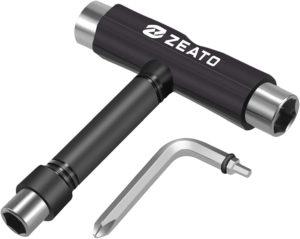 Test - Zeato Outil de Skate Multifonction Portable en T avec clé Allen de Type T et Tournevis Cruciforme de Type L