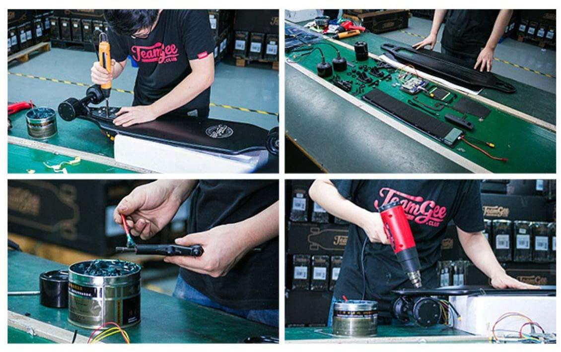 test complet du longboard électrique Teamgee H20 Skateboard électrique