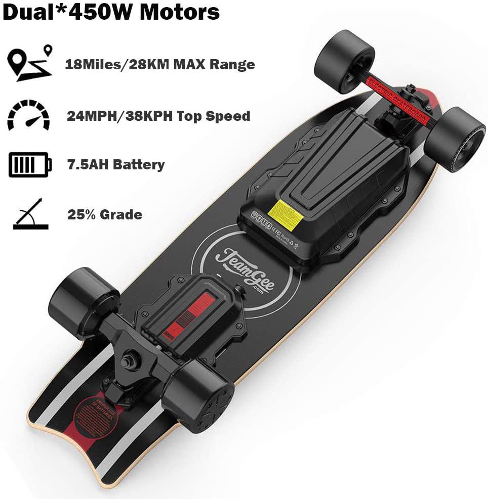 test du Skateboard électrique Teamgee H20 Mini
