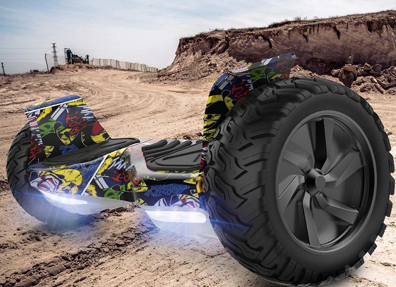 test GeekMe Gyropode 8.5 Hoverboard Overboard Pouces Scooter Electrique Tout Terrain