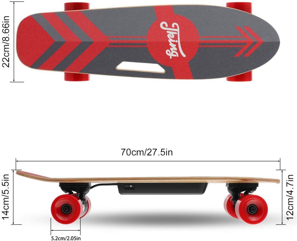 test et avis CAROMA Skateboard électrique avec télécommande LED sans fil