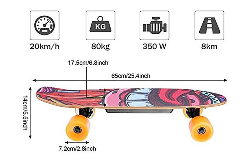 test et avis du WESOKY Planche à roulettes électrique Skateboard électrique